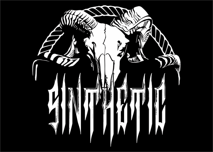 Image for Sinthetic font