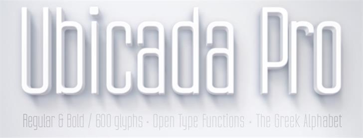 Image for Ubicada font