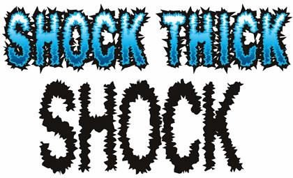 Image for Shock font