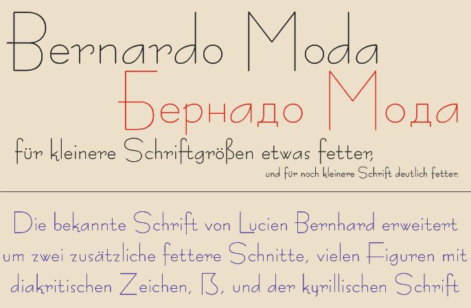 Image for Bernardo Moda font