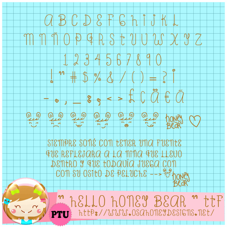 Image for Oh_Honey_Bear font