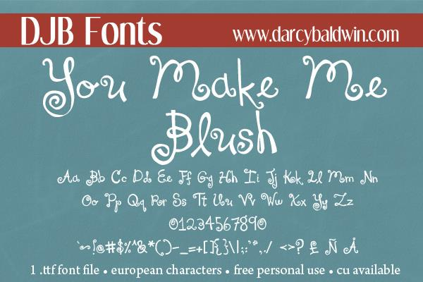 Image for DJB You Make Me Blush font