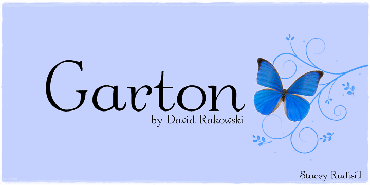 Image for Garton font
