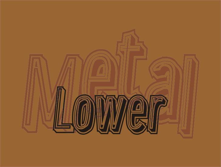 Image for LowerMetal font