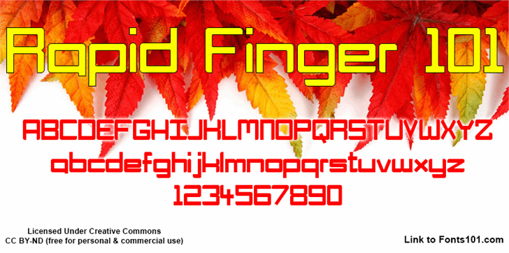 Image for Rapid Finger 101 font