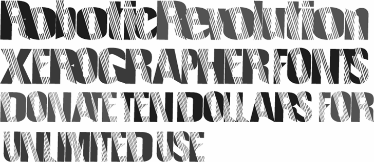 RoboticRevolution font by Xerographer Fonts