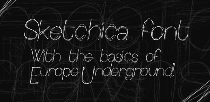 Image for Sketchica font