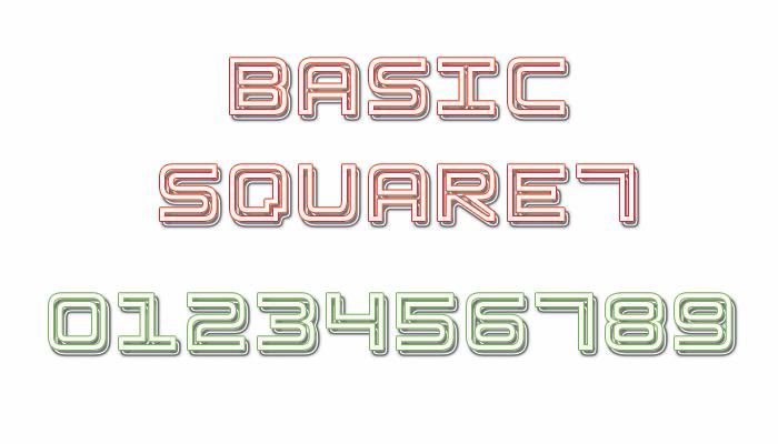 Image for Basic Square 7 font