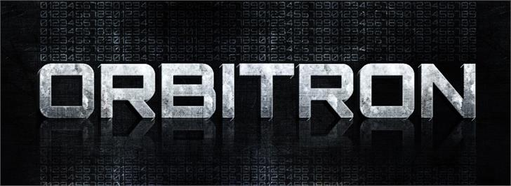 Image for Orbitron font