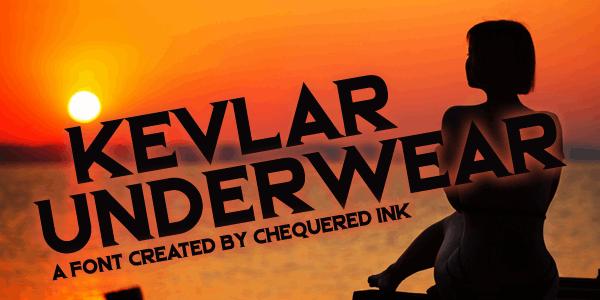 Kevlar Underwear font by Chequered Ink