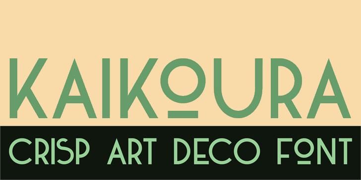 Image for DK Kaikoura font