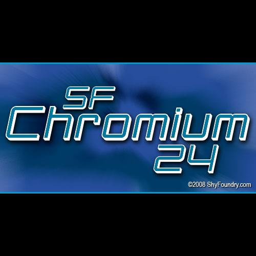 Image for SF Chromium 24 font