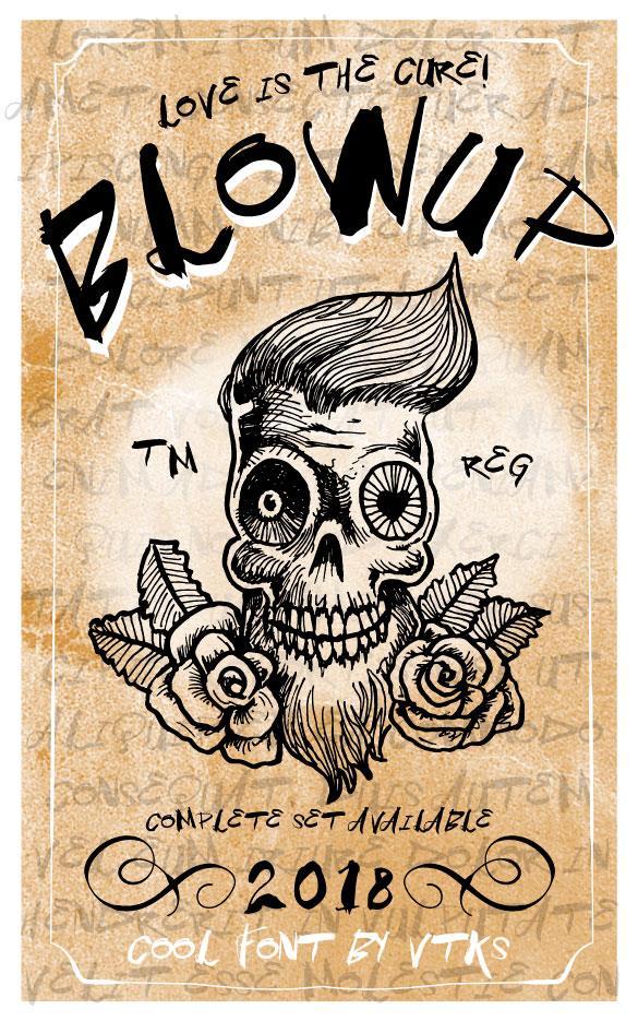 Vtks BlowUp font by VTKS DESIGN