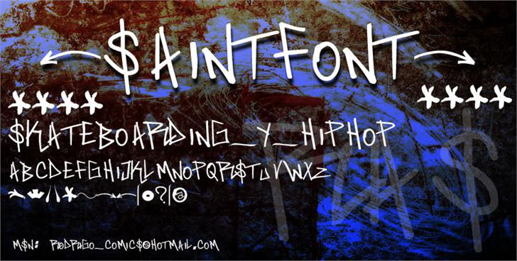 saint font by RASDESIGN