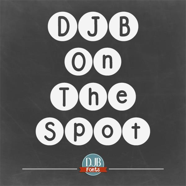 DJB On the Spot font by Darcy Baldwin Fonts