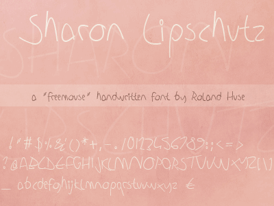 Image for Sharon Lipschutz Handwriting font