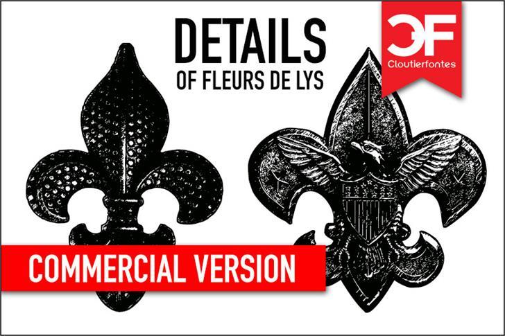 Fleur De Lys Regular Font By Cloutierfontes Fontspace