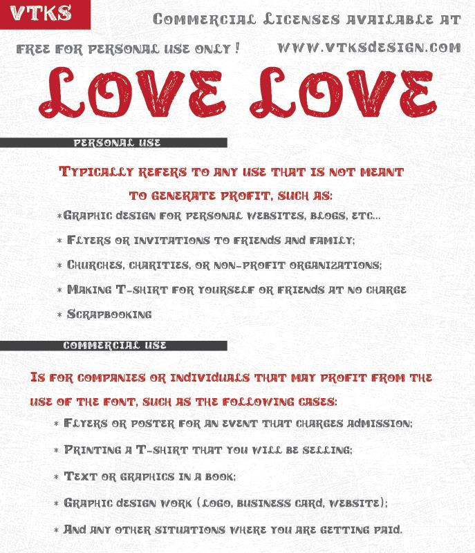 Image for vtks love love font