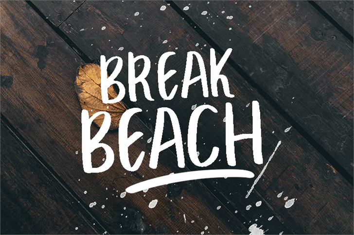 Image for BREAK BEACH font