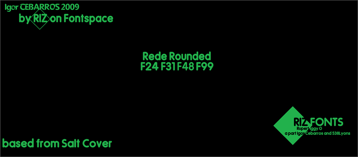 Image for Rede Rounded F24 font