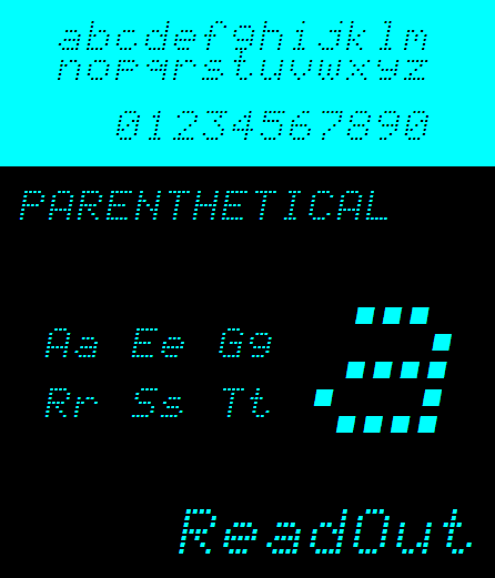 NBP Readout font by total FontGeek DTF, Ltd.