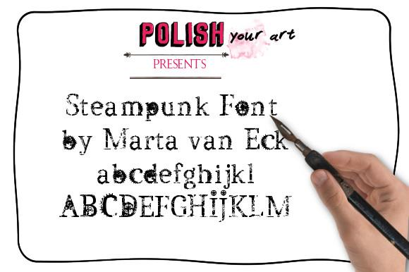 Steampunk by Marta van Eck font by Marta van Eck Designs