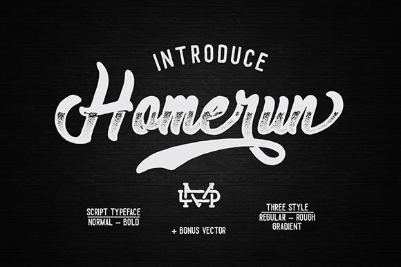 Image for Homerun font