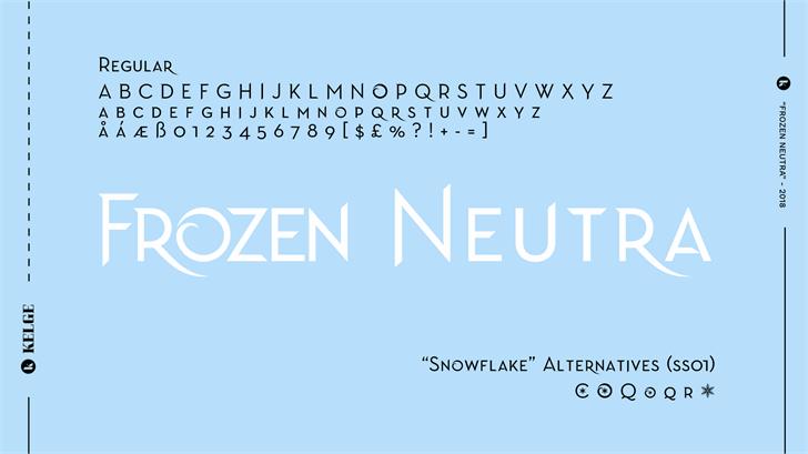 Image for Frozen Neutra font