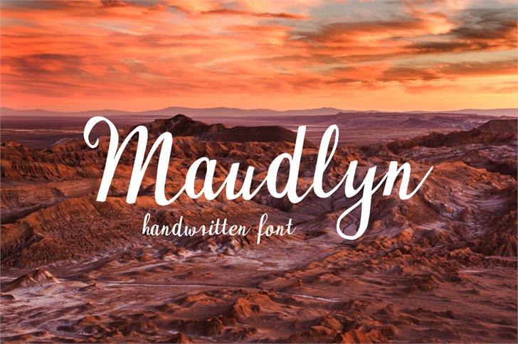 Image for Maudlyn font