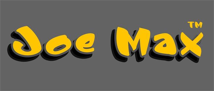 Image for Joe Max font