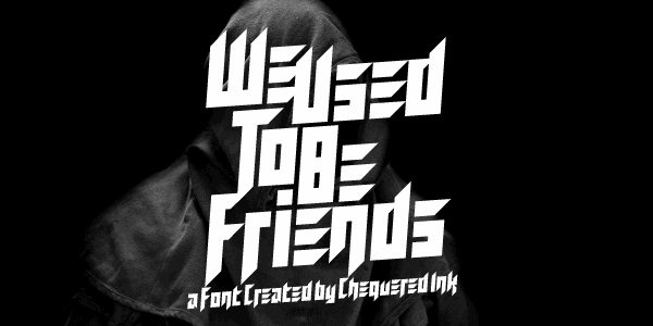 Image for We Used To Be Friends font