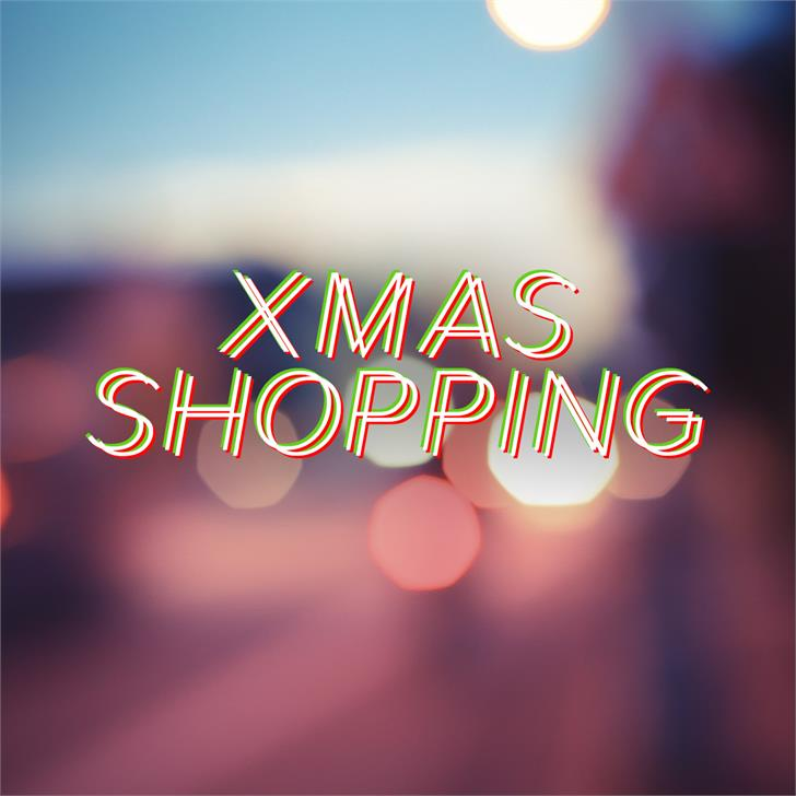 Image for Xmas Shopping font