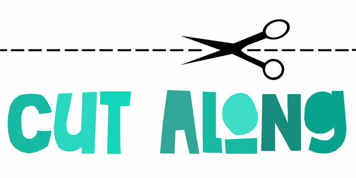 Image for DK Cut Along font