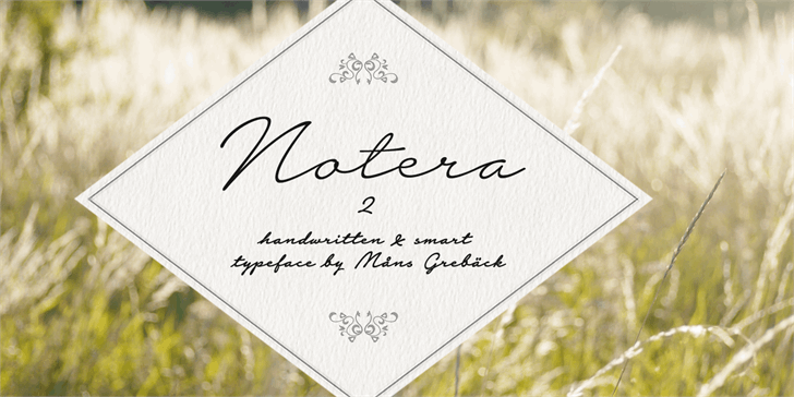 Notera 2 PERSONAL USE ONLY font by Måns Grebäck