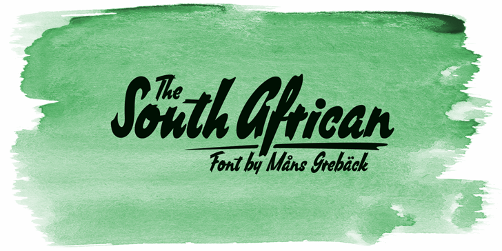 South African Personal Use font by Måns Grebäck