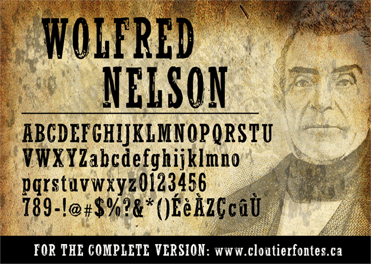 Image for WolfredNelson font