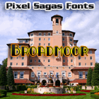 Broadmoor font by Pixel Sagas