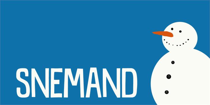 Image for DK Snemand font