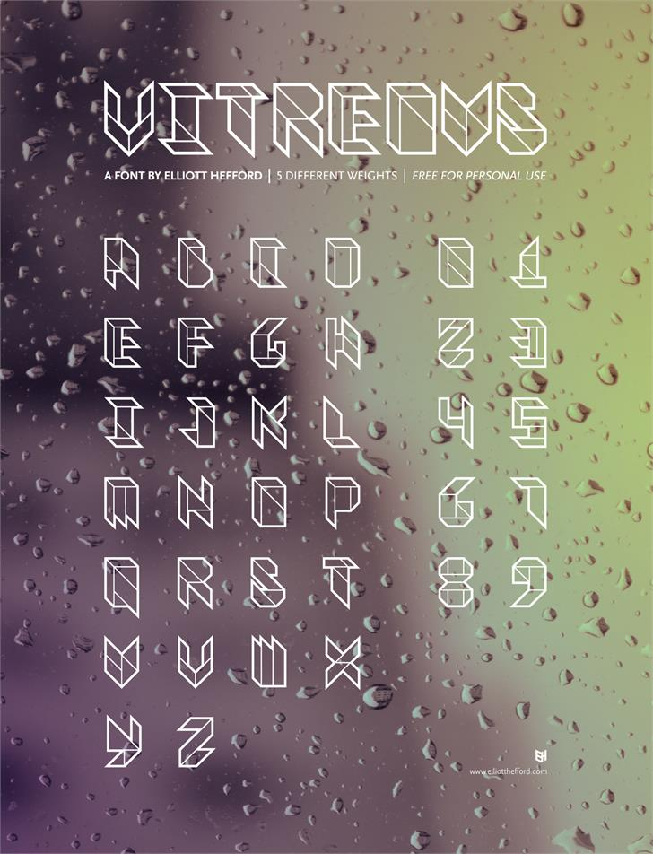 Image for Vitreous font