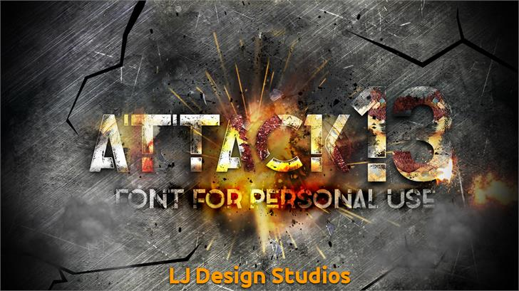 Image for Attack 13 font