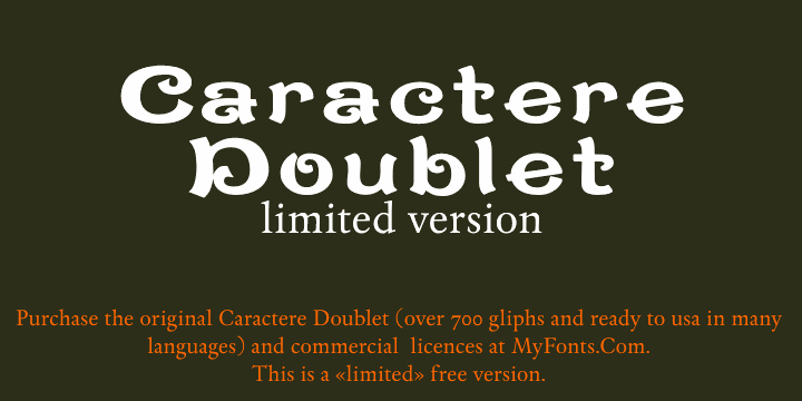 Image for CaractereDoublet font