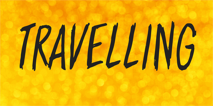 Image for Travelling font