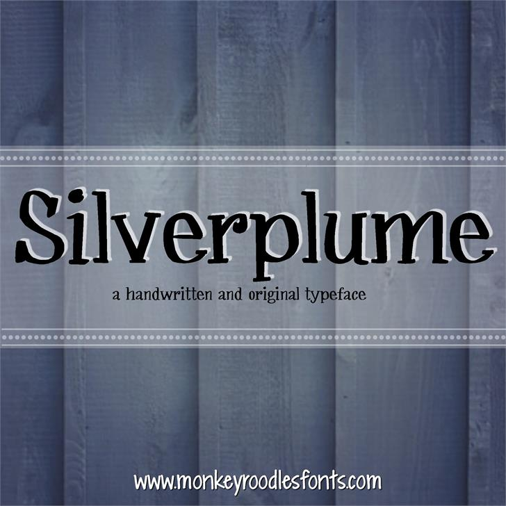 Image for MRF Silverplume font