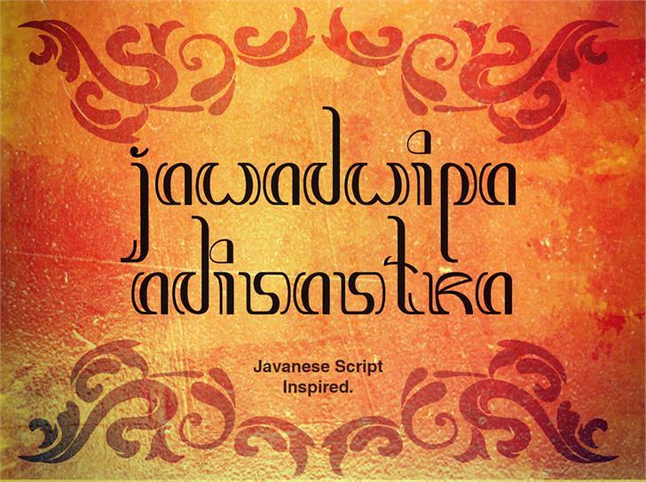 Image for Jawadwipa Adisastra font