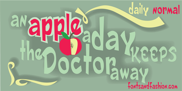 Image for DAILY DEMO NORMAL font
