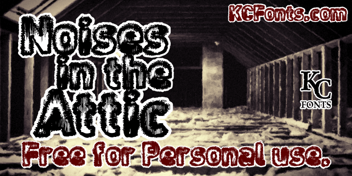 Noises in the Attic font by KC Fonts