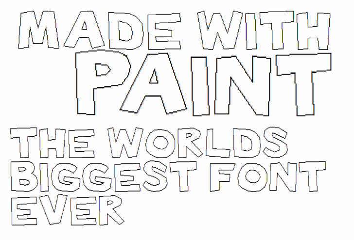 Image for Made with Paint font