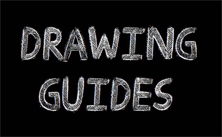 Drawing Guides font by Jonathan S. Harris