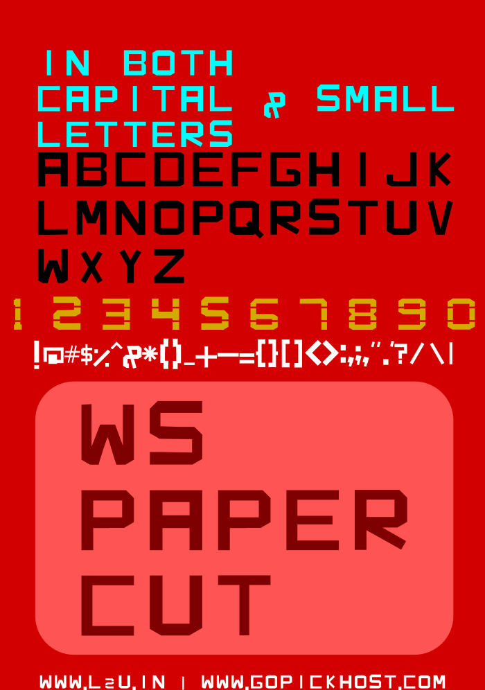 Image for WS Paper Cut font