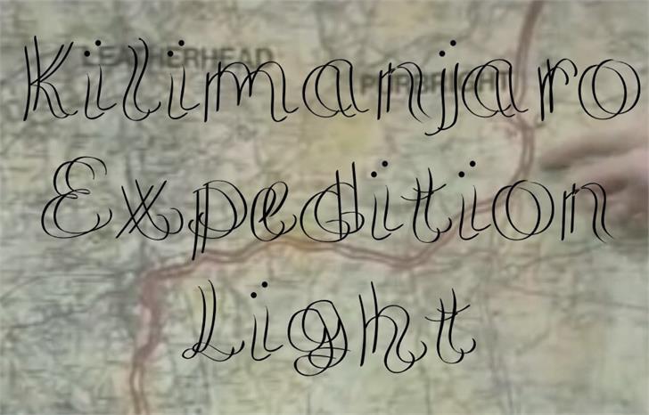 Image for KilimanjaroExpeditionLight font